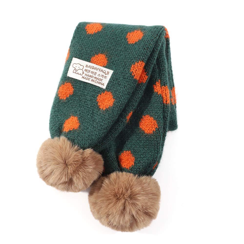Kids Winter Warm Knit Scarf Toddler Boys Girls Soft Wrap Scarves