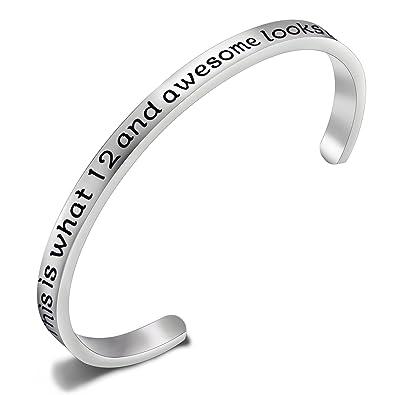 FEELMEM Birthday Gifts For Her Bracelets12th Sweet 16 18th 30thStainless Steel