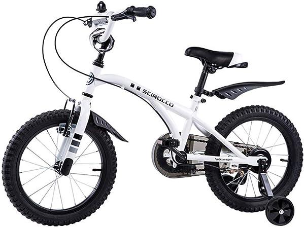 KOSGK Triciclo Bicicleta MontañA Bicicleta Marco Acero Certificado Bicicleta para NiñOs Bicicletas Bicicleta MontañA Seguras (Color: Blanco, TamañO: 14 Pulgadas): Amazon.es: Hogar