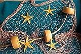 15 Ft X 8 Ft Decorative Nautical Fish Netting, Fishing Theme Party Decorations, Decorative Fish Net,Nylon Sea Net, Sea Party Decor