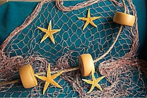 15 Ft X 8 Ft Decorative Nautical Fish Netting, Fishing Theme Party Decorations, Decorative Fish Net,Nylon Sea Net, Sea Party Decor by Florida Nets