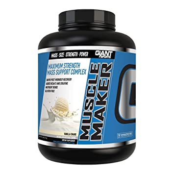 784b84fc Giant Sports Muscle Maker Nutrition, Vanilla, 6 Pound