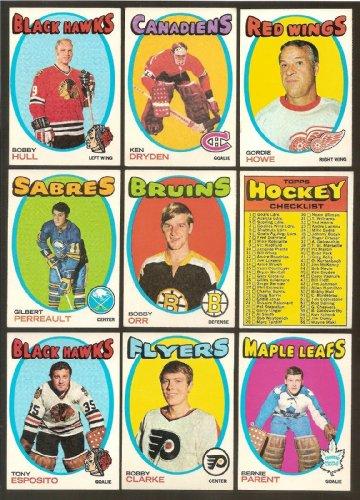 1971 - 72 1971/72 Topps Hockey Complete 132 Card Set Ken Dryden Rookie Nrmt Set