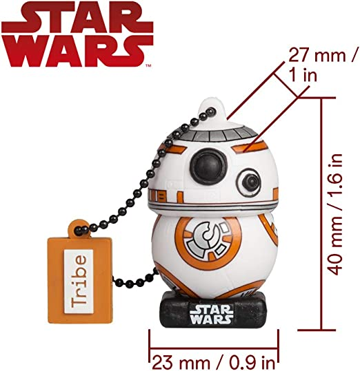 Llave USB 16 GB BB8 TLJ - Memoria Flash Drive 2.0 Original Star ...
