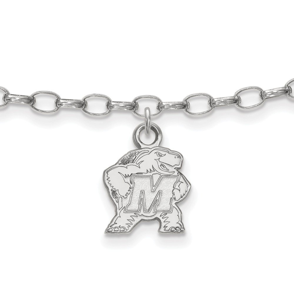 2.5mm Jewel Tie 925 Sterling Silver Maryland Anklet 9 with Secure Lobster Lock Clasp