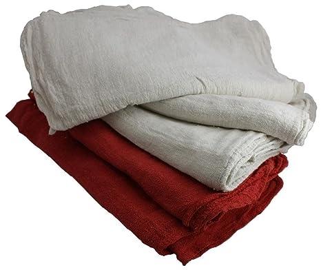 """100% algodón Toallas de tienda de tienda Industrial trapos 14 """"x 14"""""""