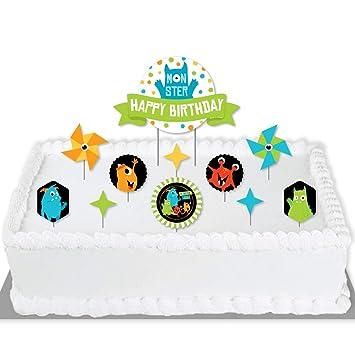 Big Dot of Happiness Monster Bash – Kit de decoración para tartas ...