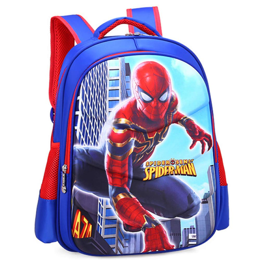 Iron Man Spiderman Captain America Childrens School Backpack Lightweight Teens Backpacks For Boys And Girls School Bags 6-15 Year Old,Spiderman-M(382814cm)