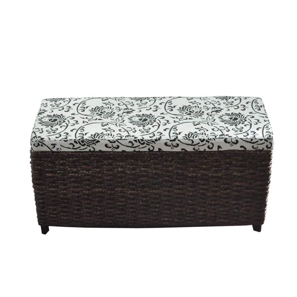 Fabulous Amazon Com Handmade Woven Seat And Storage Stool Shoe Bench Creativecarmelina Interior Chair Design Creativecarmelinacom
