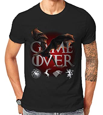 d89f6a9f9 Made in USA GOT Game of Thrones Season 8 Ice Dragon Game Over Final Khaleesi  Targaryen