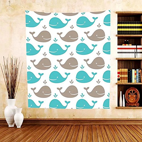 Gzhihine Custom tapestry Sea Animals Decor Tapestry Pattern with Sharks Swimming to Different Directions Monochromic for Bedroom Living Room Dorm - Directions Palm To Beach Outlets