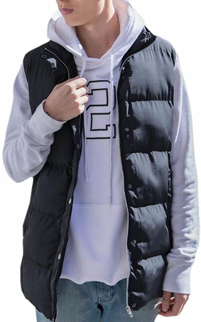 Ptyhk RG Mens Winter Lightweight Sleeveless Mid-Long Vest Down Jacket
