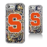 Keyscaper NCAA Syracuse Orange Paisley Glitter Case, iPhone 8/7/6, Clear
