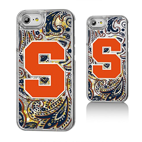 Keyscaper NCAA Syracuse Orange Paisley Glitter Case, iPhone 8/7/6, Clear by Keyscaper