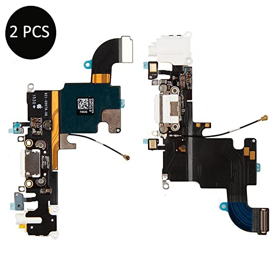 the best attitude defde 3c8f8 Amazon.com: 2 Pack-Charging Port Dock for iPhone 6S,Dock Connector ...