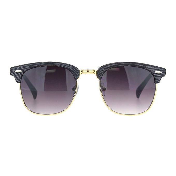 Amazon.com: Woodgrain - Gafas de sol retro para hombre ...