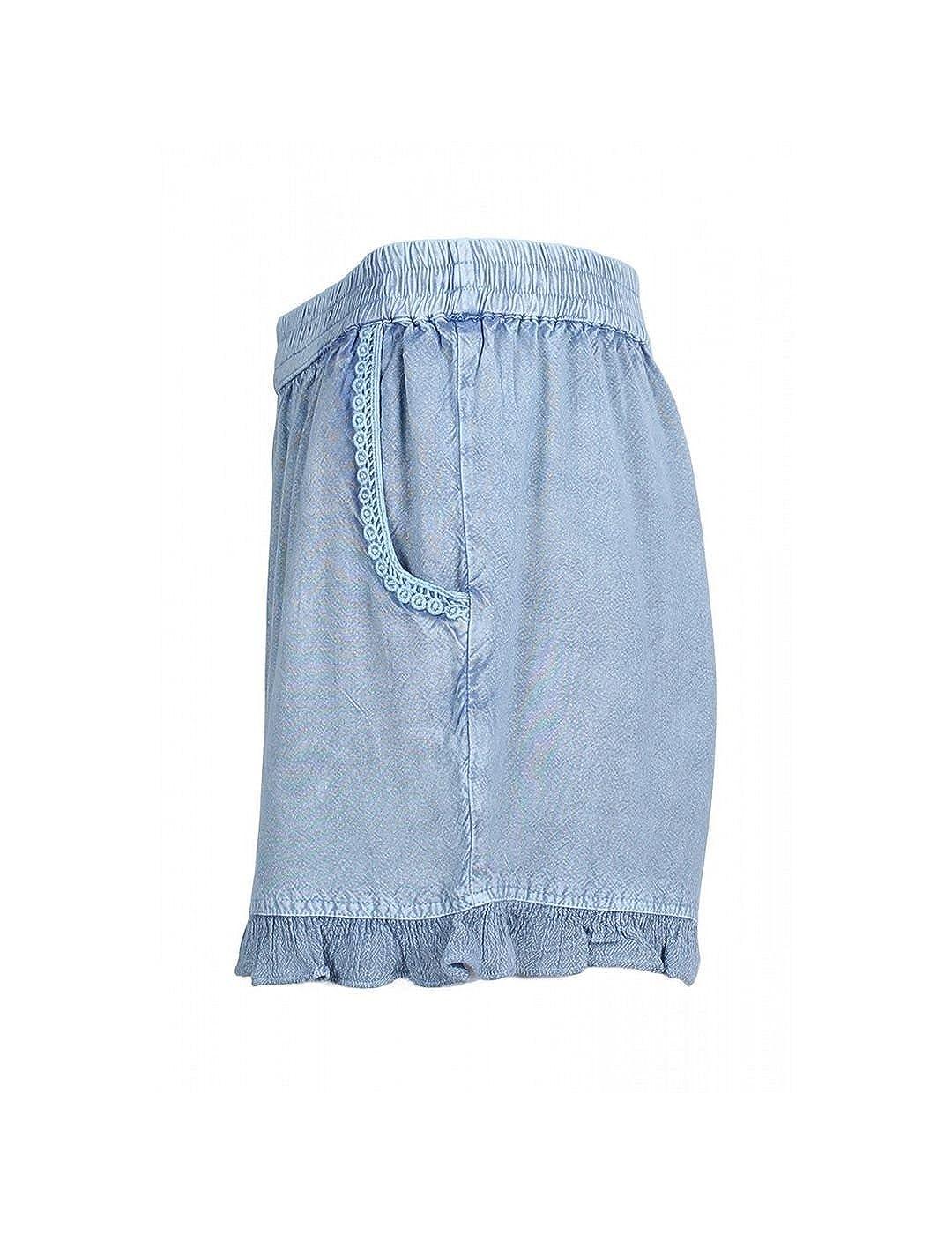 SMF JEANS Short Smf Mujer 188105 Puntilla XL azul: Amazon.es ...
