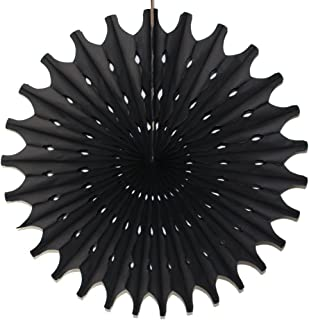 product image for Devra Party 3-Pack 18 Inch Large Honeycomb Tissue Paper Fan (Black)