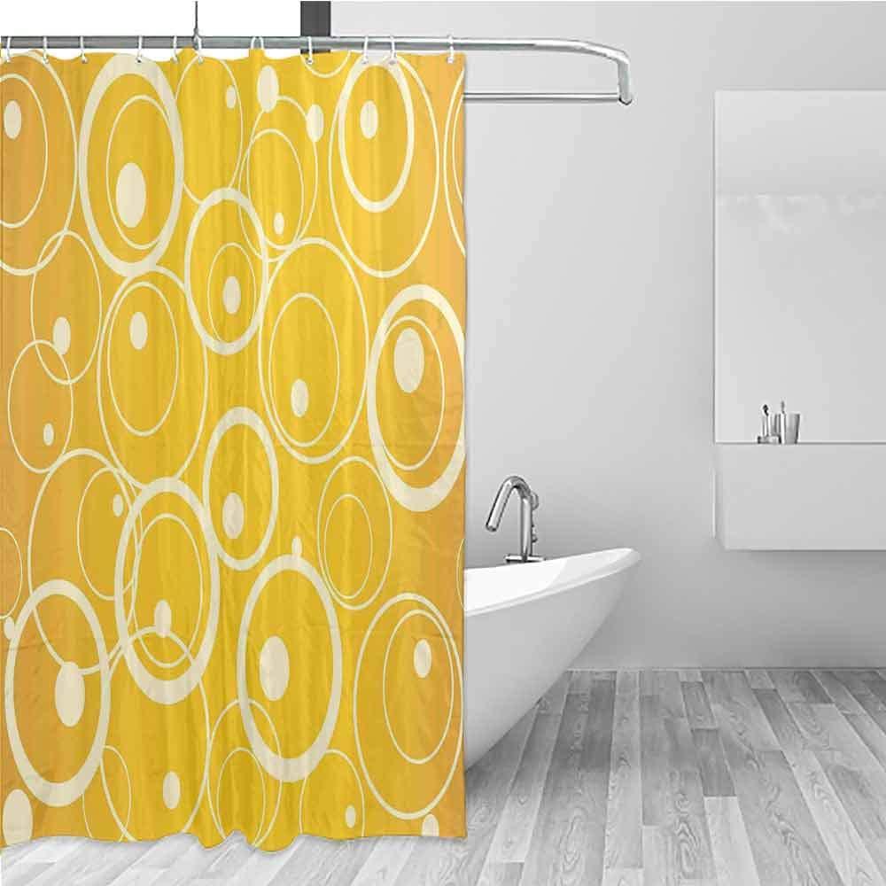 BE.SUN Bathtub Splash Guard,Vintage Yellow,Fashionable Pattern,W94x72L Yellow Pale Yellow by BE.SUN