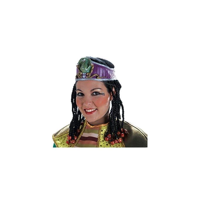 El Rey del Carnaval - Peluca princesa egipcia: Amazon.es: Ropa y accesorios