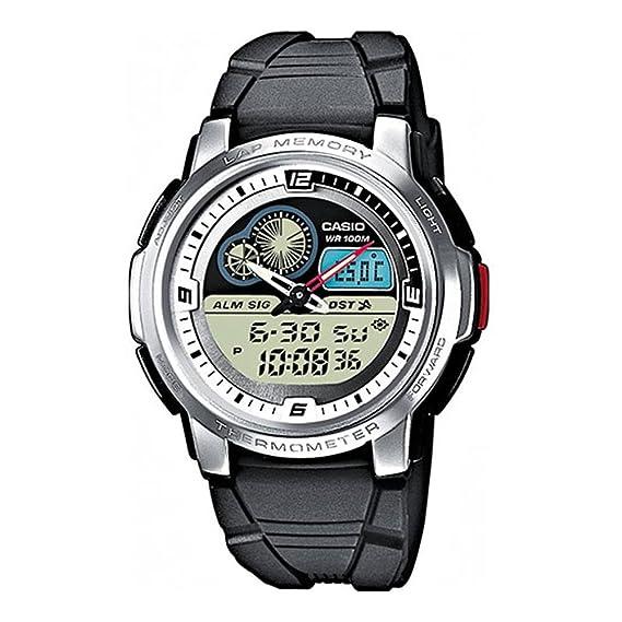 6df5995de8e Casio Orologio analogico-Digitale al Quarzo Uomo con Cinturino in Resina  AQF-102W-7BVEF  Amazon.it  Orologi