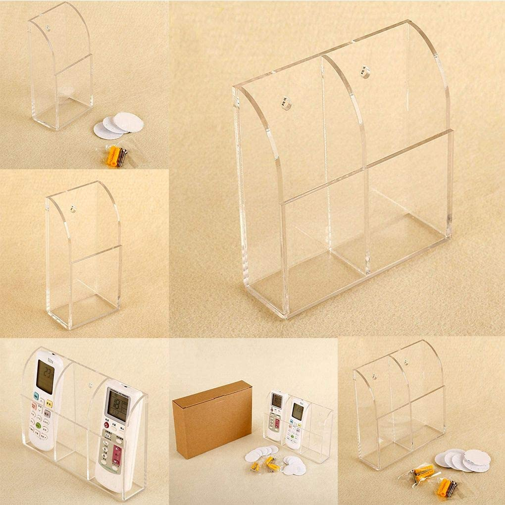 Lidahaotin Support Mural Acrylique Climatisation T/él/écommande Container Box Storage Organizer H/ôtel Case Home Office