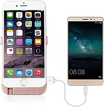 6-Plus 5.5 Screen with 7000 mAh Extra 200/% Battery Power Light Weigh with Kick Stand Gold, iPhone 6 6S 7 8//5.5 inch 6S BioRing Battery Case Compatible with All iPhone 8 7