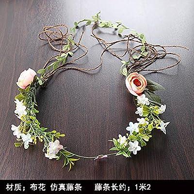 XPY&DGX Accessoires De Cheveux De Mariée En Épingle À Cheveux De Mariage,Coiffe de mariée fleur couronne douce super fée noeud accessoires de mariage à la main fleur fée ch
