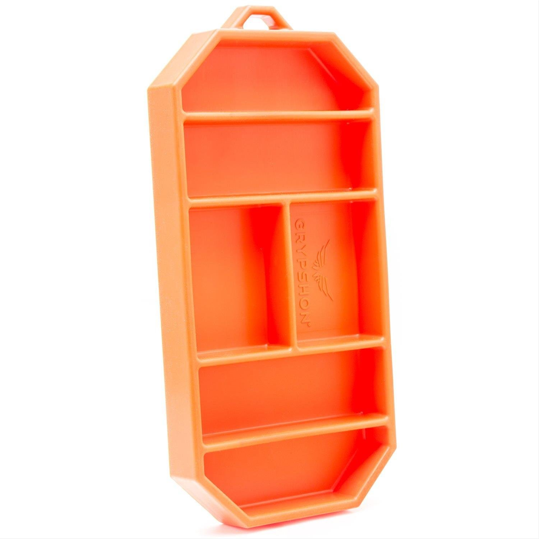 Grypmat | Non-Slip Flexible Orange Tool Tray | Tool Box Organizer | Socket Organizer | Tool Holder | Tool Mats | No Magnets | Easy Clean Up | As Seen On Shark Tank (Small) by Grypshon (Image #7)