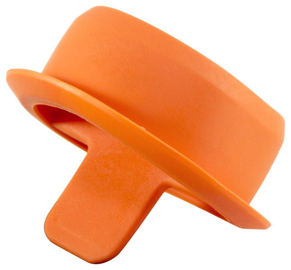 Caplugs QECPM14Q1 Plastic Ergonomic Center Pull Tab Plug. ECP-M14, TEO, Cap OD 0.75'' Plug ID 0.53'', Orange (Pack of 1000)