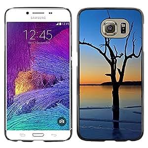 LECELL -- Funda protectora / Cubierta / Piel For Samsung Galaxy S6 SM-G920 -- Sunset Tree Beautiful Nature 3 --