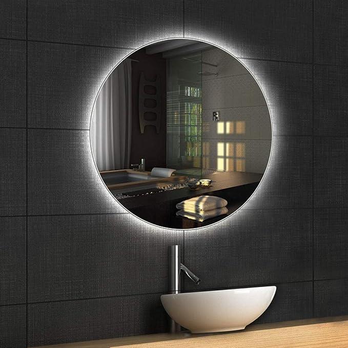 Espejo LED de ba/ño con iluminaci/ón LED Espejo LED Modernos 17 adiciones Diferentes 80x150 Boston ALASTA/® Espejo