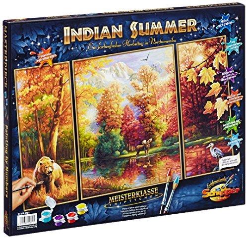 Schipper 609260650 Indian Summer Triptychon Paint By Numbers Board by Schipper