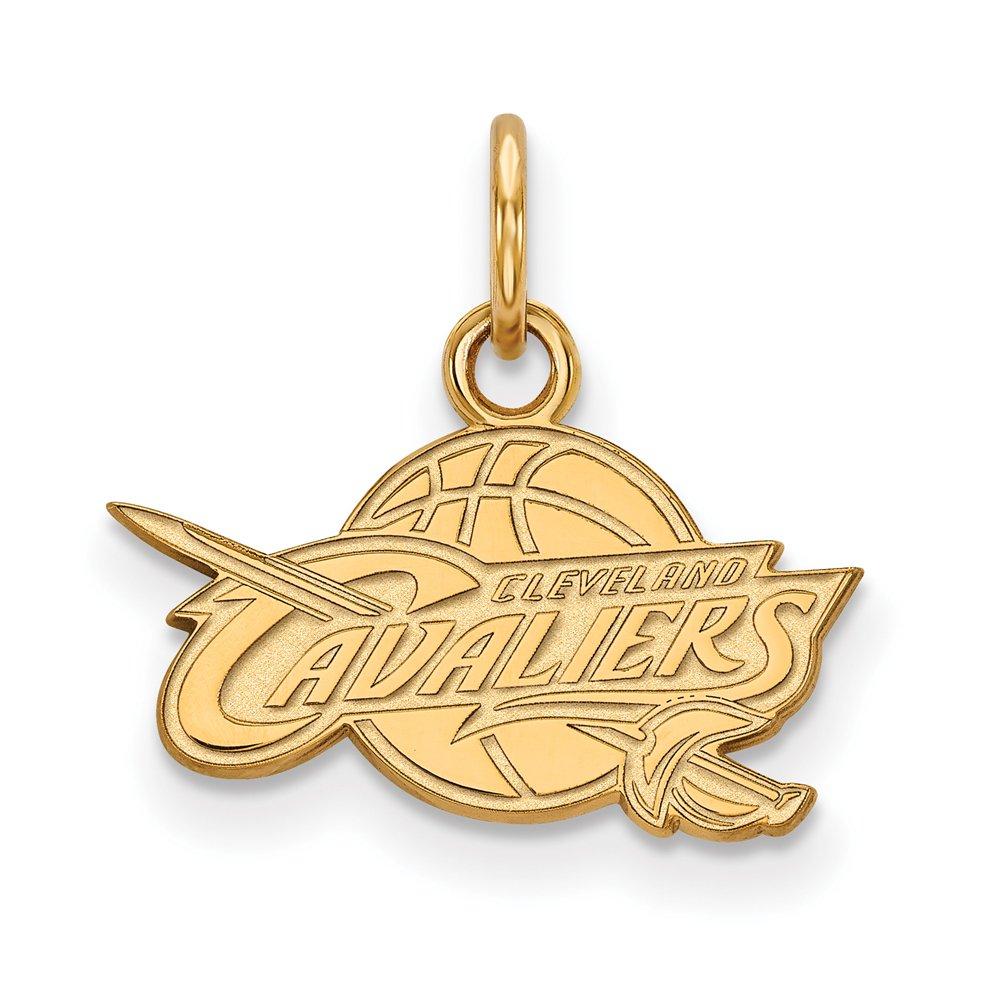 NBA Cleveland Cavs Xsmall Logo Pendant in 10K Yellow Gold