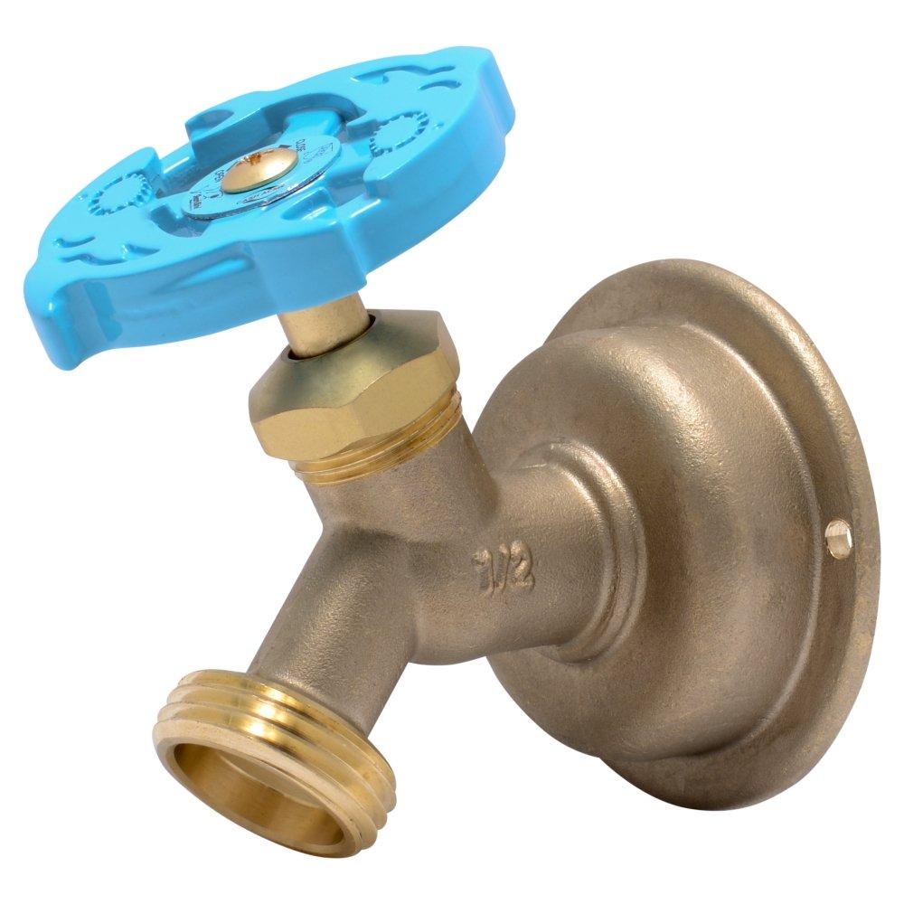 SharkBite 24632LF 24632LFA Hose Bibb 45 Degree, 1/2 Inch x 3/4 inch Water Valve Shut Off, Multi Turn MHT, No Kink, Push-to-Connect, PEX, Copper, CPVC, PE-RT, 1/2'' x 3/4''