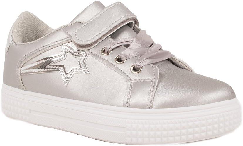 Enfants Filles Enfants hight top Chaussures avec Lacets