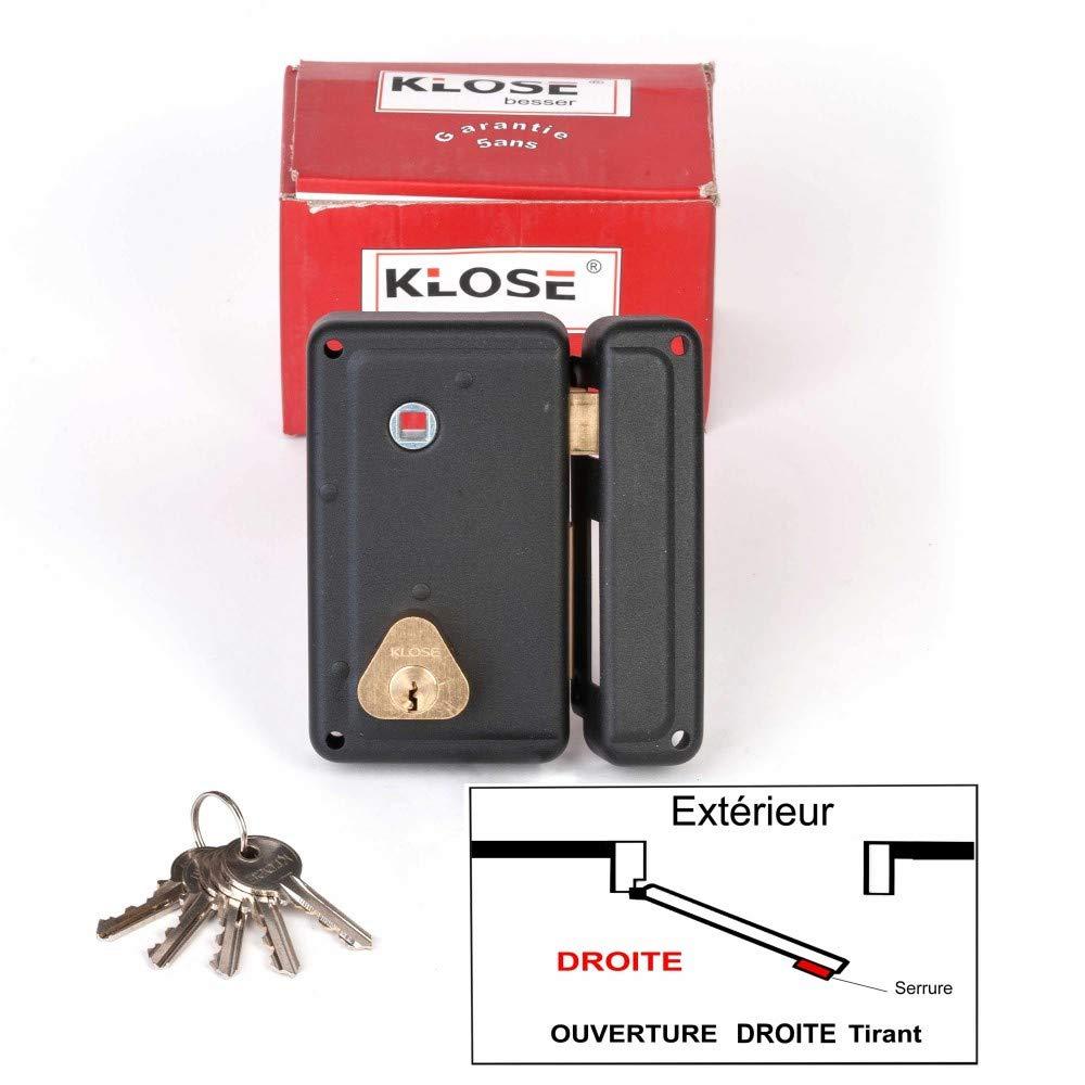 Serrure en applique à Fouillot Verticale 75x130mm - Droite -(idem JPM CISA.) KLOSE BESSER
