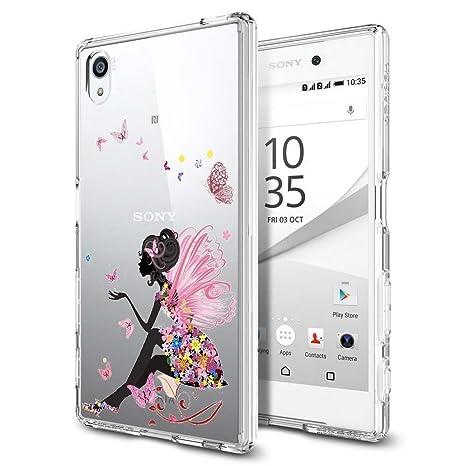 Sony Xperia E5 Funda, ocketcase® TPU Carcasa Suave Silicona Flexible Gel Funda Resistente a los Arañazos Tapa Protectora Case Cover para Xperia ...