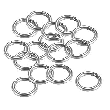 Sourcingmap - Anillas redondas soldadas (20 x 3 mm, acero ...