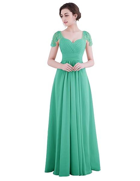 Vestidos de fiesta para bodas verdes