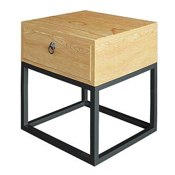 Amazon De Ctg Nachttisch Eisen Nachttisch Schrank Massivholz