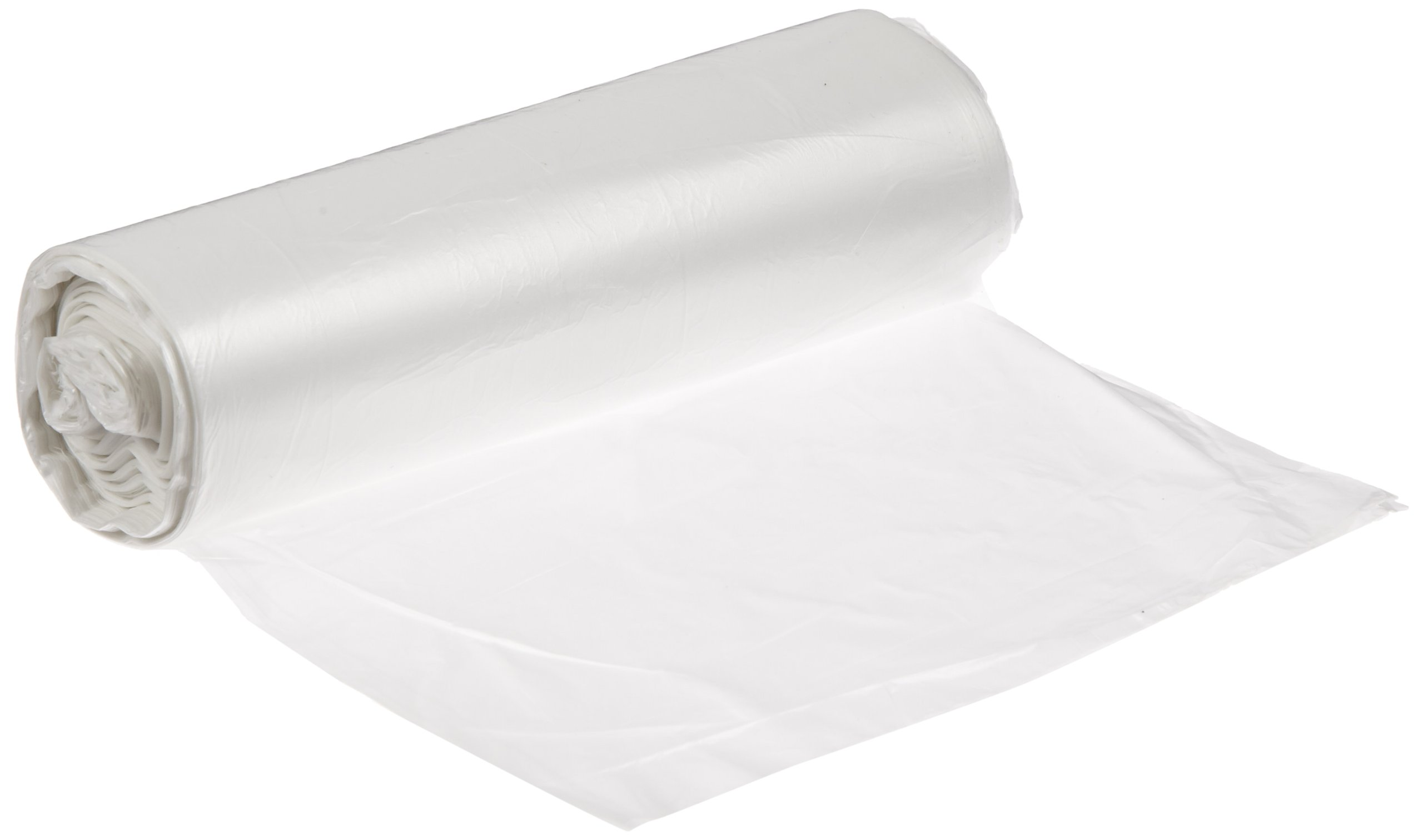Spectrum CP242406N HDPE Institutional Trash Can Liner, 7-10 Gallon Capacity, 24'' Length x 24'' Width x 6 Micron Thick, Natural (Case of 1000)