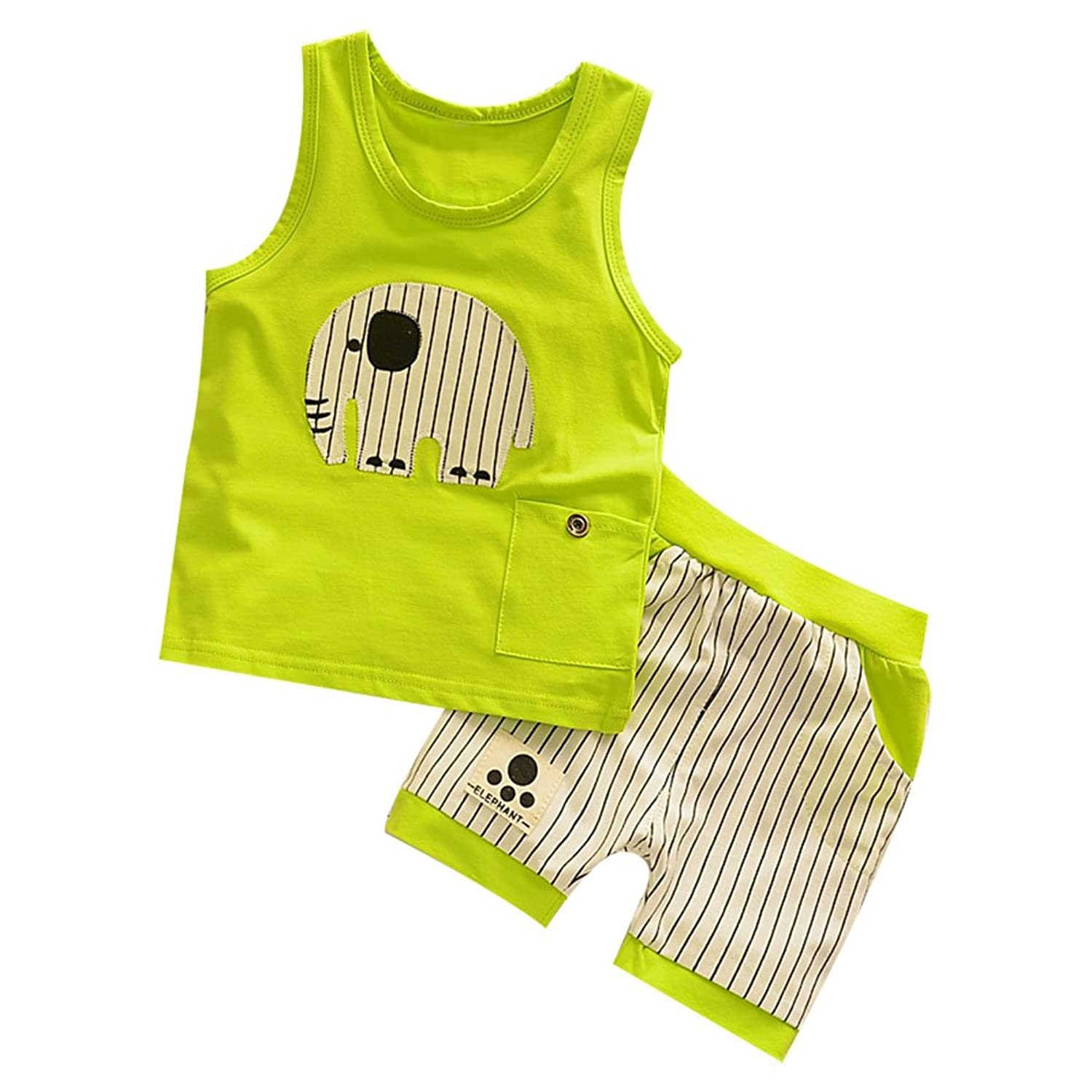 Jojobaby Baby Boys//Girls Cotton Cartoon Tank Top and Short Set