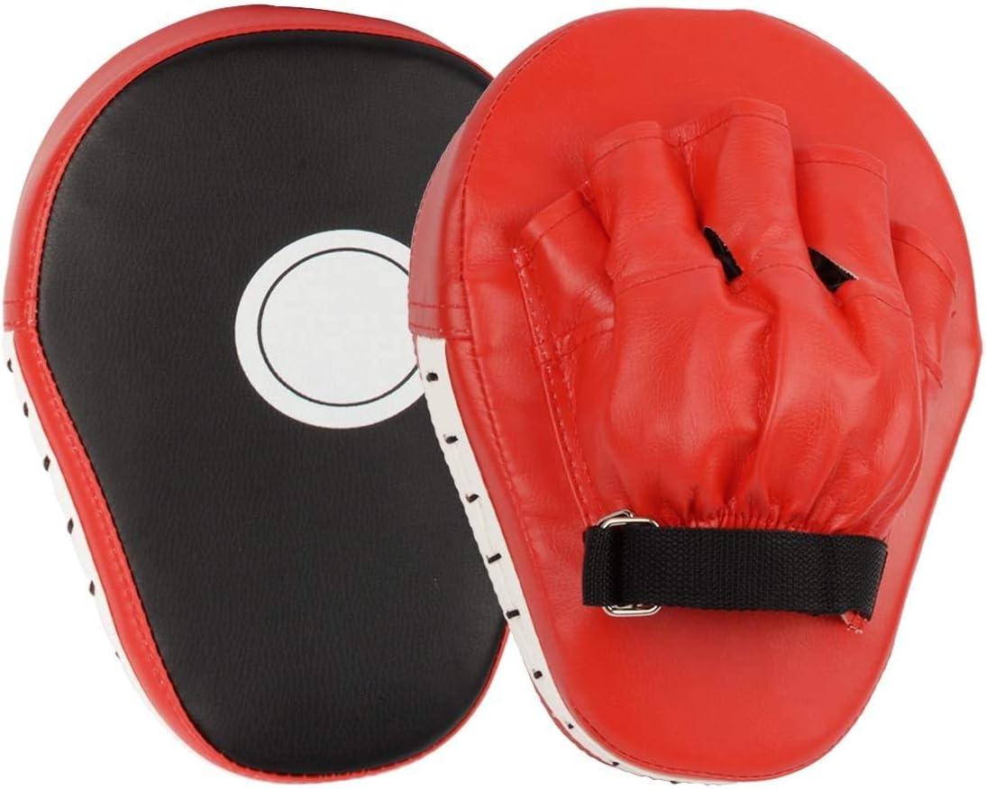 Cokeymove Almohadilla de Entrenamiento de Boxeo Paos de Boxeo Manoplas de Poliuretano Kick Boxing Muay Thai MMA-Almohadillas Entrenamiento-Manoplas de Boxeo Cuero PU Muay Thai Kick Manoplas Boxeo