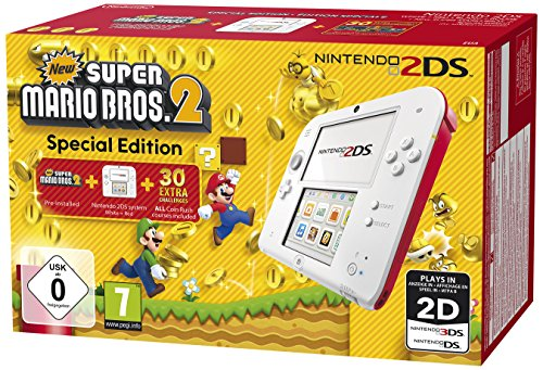 Nintendo 2Ds Blanc Rouge   New Super Mario Bros  2