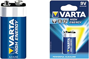 1 X 9v Block Batterie 6lr61 4922 Varta High Energy Baumarkt