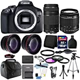 Canon EOS Rebel 1300D / T6 18MP DSLR Camera with 18-55mm EF-S f/3.5-5.6 + EF 75-300mm Zoom Lens + 16GB Accessory Kit