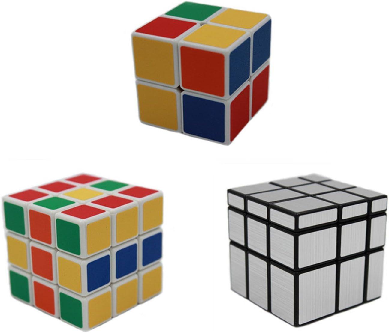 MEISHINE® 3 Pack Mágico Cubo 2x2x2 3x3x3 Cubo Mágico, Mirror Cube Cubo Mágico Inteligencia Mágico Cubo de la Velocidad Juego de Puzzle Cube Speed Magic Cube (Style 1): Amazon.es: Juguetes y juegos