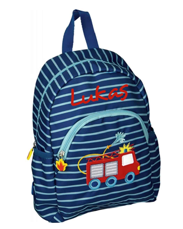 Spiegelburg 14192 - Feuerwehr Kindergarten-Rucksack mit Namen beschriftet B0762RFS1N | Smart