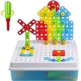 Jeu Construction 3D Jeu Assemblage Blocs Plastique Jouet Puzzle Enfant Fille Garçon (120 Pcs)